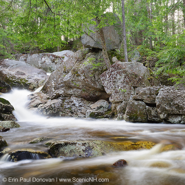 This is the image for May in the 2016 White Mountains New Hampshire calendar. Balance Rock and Bell's Cascade along Gordon Pond Brook in North Woodstock, New Hampshire USA. The calendar can be purchased here: http://bit.ly/17LpoRV