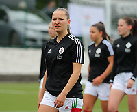 Janne Geers (14) of OHL pictured during a female soccer game between Oud Heverlee Leuven and AA Gent Ladies on the 9 th matchday of play off 1 in the 2020 - 2021 season of Belgian Womens Super League , saturday 22 nd of May 2021  in Heverlee , Belgium . PHOTO SPORTPIX.BE | SPP | SEVIL OKTEM