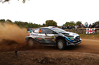 5th June 2021; Monte Acuto, Sardinia; WRC rally of Italia Sardinia; Gus Greensmith-Ford Fiesta WRC