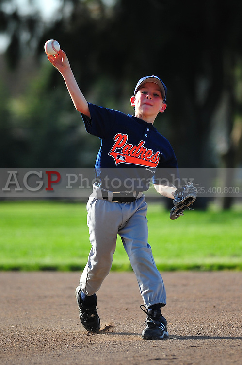 The Pleasanton National Little League AA Padres play at the Pleasanton Sports Park Thursday March 18, 2010. (Photo by Alan Greth)