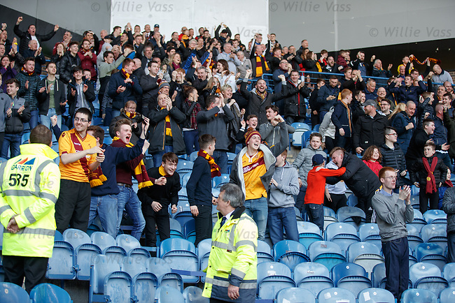 Motherwell fans celebrating their goal