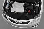 High angle engine detail of a 2010 Toyota Camry SE V6 .