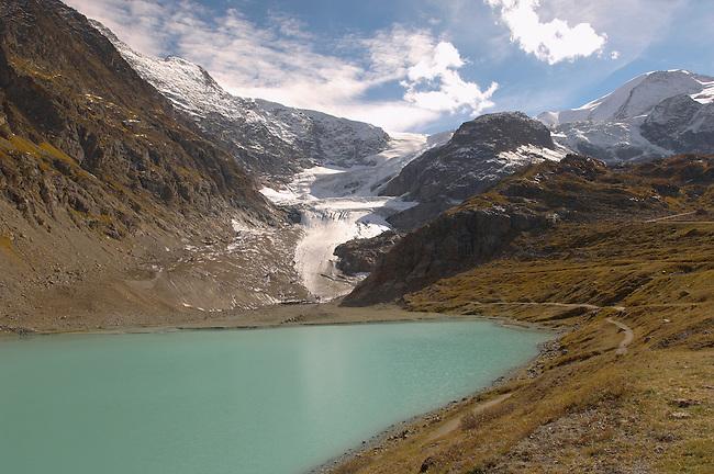 Steingletscher glacier moutain viewing point -Suskenpass - Alps Switzerland