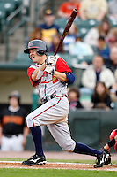June 3, 2009:  First Baseman Wes Timmons of the Gwinnett Braves at bat during a game at Frontier Field in Rochester, NY.  The Gwinnett Braves are the International League Triple-A affiliate of the Atlanta Braves.  Photo by:  Mike Janes/Four Seam Images
