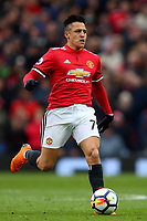 Alexis Sanchez of Manchester United during the Premier League match between Manchester United and Swansea City at the Old Trafford, Manchester, England, UK. Saturday 31 March 2018