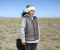 A Tibetan nomad in the Amdo region of the Tibetan Plateau. Up to 100,000 nomads have been removed from the highland grasslands of the Tibetan Plateau. Climate change, mining and government policy are causing the rapid disappearance of this unique culture.