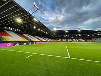 Sufschrift Jogis Jungs im Innenraum des Tivoli Stadions - Innsbruck 02.06.2021: Deutschland vs. Daenemark, Tivoli Stadion Innsbruck