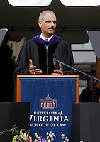 May 22, 2011-Charlottesville, Virginia-USA- The 2011 graduation held on the lawn at the University of Virginia. US attorney general Eric H. Holder, Jr. spoke to the UVa school of law. Photo/Andrew Shurtleff