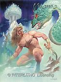 Interlitho, Luis, FANTASY, paintings, man, dragon, KL, KL3207/1,#fantasy# illustrations, pinturas