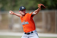Miami Marlins pitcher Nick Wittgren (64) during a Minor League Spring Training Intrasquad game on March 27, 2018 at the Roger Dean Stadium Complex in Jupiter, Florida.  (Mike Janes/Four Seam Images)