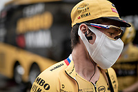 Primoz Roglic (SVK/Jumbo-Visma) at the race start in Pau<br /> <br /> Stage 9 from Pau to Laruns (153km)<br /> <br /> 107th Tour de France 2020 (2.UWT)<br /> (the 'postponed edition' held in september)<br /> <br /> ©kramon