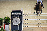 Jane Richard Philips of Switzerland rides Pablo de Virton in action during the Hong Kong Jockey Club Trophy competition as part of the Longines Hong Kong Masters on 13 February 2015, at the Asia World Expo, outskirts Hong Kong, China. Photo by Victor Fraile / Power Sport Images