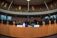 73. Sitzungs des NSA-Untersuchungsausschuss des Deutschen Bundestages am Mittwoch den 25. November 2015.<br /> In der nicht-oeffentlichen Sitzung gab es Streit zwischen Regierung und Opposition ueber den Umgang mit den Listen der BND-Selektoren.<br /> Im Bild: Zur Beweiserhebung war der Zeuge J. S., Leiter T2D Datenuebermittlung, regionale Nachrichtenbearbeitung geladen. Der Zeuge wurde aus Sicherheitsgruenden anonymisiert und durfte nicht fotografiert werden.<br /> 25.11.2015, Berlin<br /> Copyright: Christian-Ditsch.de<br /> [Inhaltsveraendernde Manipulation des Fotos nur nach ausdruecklicher Genehmigung des Fotografen. Vereinbarungen ueber Abtretung von Persoenlichkeitsrechten/Model Release der abgebildeten Person/Personen liegen nicht vor. NO MODEL RELEASE! Nur fuer Redaktionelle Zwecke. Don't publish without copyright Christian-Ditsch.de, Veroeffentlichung nur mit Fotografennennung, sowie gegen Honorar, MwSt. und Beleg. Konto: I N G - D i B a, IBAN DE58500105175400192269, BIC INGDDEFFXXX, Kontakt: post@christian-ditsch.de<br /> Bei der Bearbeitung der Dateiinformationen darf die Urheberkennzeichnung in den EXIF- und  IPTC-Daten nicht entfernt werden, diese sind in digitalen Medien nach §95c UrhG rechtlich geschuetzt. Der Urhebervermerk wird gemaess §13 UrhG verlangt.]
