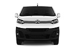 Car photography straight front view of a 2017 Citroen Jumpy Business 5 Door Cargo Van Front View