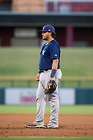 AZL Brewers first baseman Moises Perez (53) on defense during a game against the AZL Cubs on August 6, 2017 at Sloan Park in Mesa, Arizona. AZL Cubs defeated the AZL Brewers 8-7. (Zachary Lucy/Four Seam Images)