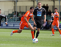 Pictured: Danny Graham of Swansea (L). Saturday 17 July 2011<br /> Re: Pre season friendly, Neath Football Club v Swansea City FC at the Gnoll ground, Neath, south Wales.