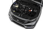 Car Stock 2017 Honda Civic Executive 5 Door Hatchback Engine  high angle detail view