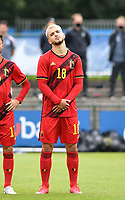 Belgian Nicolas Raskin pictured during a friendly soccer game between the national teams Under19 Youth teams of Belgium and Germany on tuesday 8 th of September 2020  in Genk , Belgium . PHOTO SPORTPIX.BE | SPP | DAVID CATRY