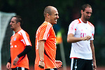 GUANGZHOU, GUANGDONG - JULY 26:  Arjen Robben of Bayern Munich during a training session ahead the friendly match against VfL Wolfsburg as part of the Audi Football Summit 2012 on July 26, 2012 at the Tianhe Sports Stadium in Guangzhou, China.  Photo by Victor Fraile / The Power of Sport Images