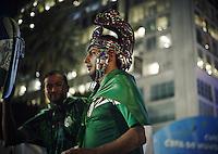 Mexico fans in the Fifa fan fest