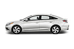Car Driver side profile view of a 2016 Hyundai Sonata-Plug-in-Hybrid Limited 4 Door Sedan Side View