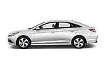 Car Driver side profile view of a 2016 Hyundai Sonata-Plug-in-Hybrid Limited 4 Door Sedan Side View