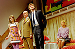 Black Comedy by Peter Shaffer, directed by Gregory Doran. With Anna Chancellor as Carol Melkett, Gary Waldhorn as Coolnel Melkett, David Tennant as Brindsley, Nicola McAuliffe as Miss Furnival. Opened at The Comedy Theatre 22/4/98. CREDIT Geraint Lewis