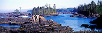 West Coast of Vancouver Island, BC, British Columbia, Canada - Rugged Coastline near Ucluelet, Pacific Northwest, Panoramic View