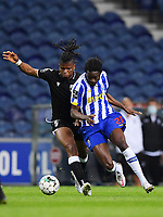 22nd April 2021; Dragao Stadium, Porto, Portugal; Portuguese Championship 2020/2021, FC Porto versus Vitoria de Guimaraes; Romario Baro of FC Porto goes past Mikel Agu of Vitoria de Guimaraes