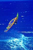 Windsurfing Hookipa Beach park, Maui