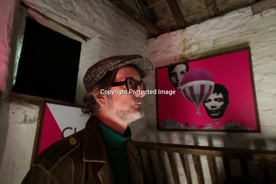 03/06/19<br /> <br /> Jarvis Cocker watching 'You looking at me?' film at Lee Farm Cinebarn.<br /> <br /> A new art trail in the Peak District created by Jarvis Cocker, for the National Trust, follows in the footsteps of some of those who took part in the mass trespass onto Kinder Scout in 1932. <br /> <br /> With the aim of getting people to think about how to protect the landscape, the walk presents surprising artworks in places where guest artists have been inspired by the landscape and the trespass.<br /> <br /> The BE KINDER trail, will run from 6 July until 15 September and starts from Edale railway station, Derbyshire.<br /> <br /> All Rights Reserved: F Stop Press Ltd. +44(0)1335 418365   +44 (0)7765 242650 www.fstoppress.com