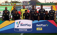 BOGOTA - COLOMBIA, 21-11-2020: Jugadores de Deportivo Cali, posan para una foto, antes partido entre La Equidad y Deportivo Cali, de la fecha 13 por la Liga BetPlay DIMAYOR 2020, jugado en el estadio Metropolitano de Techo en la ciudad de Bogota. / Players of Deportivo Cali, pose for a photo prior a match La Equidad and Deportivo Cali, of the 13th date for BetPlay DIMAYOR League 2020 at the Metropolitano de Techo stadium in Bogota city. / Photo: VizzorImage  / Daniel Garzon / Cont.