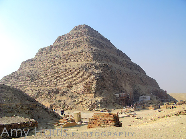 Step Pyramid of King Djoser at the Egyptian burial ground of Sakkara near Cairo, Egypt.