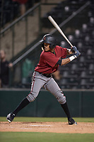 AZL Diamondbacks pinch hitter Dominique Collie (1) at bat during an Arizona League game against the AZL Angels at Tempe Diablo Stadium on June 27, 2018 in Tempe, Arizona. The AZL Angels defeated the AZL Diamondbacks 5-3. (Zachary Lucy/Four Seam Images)