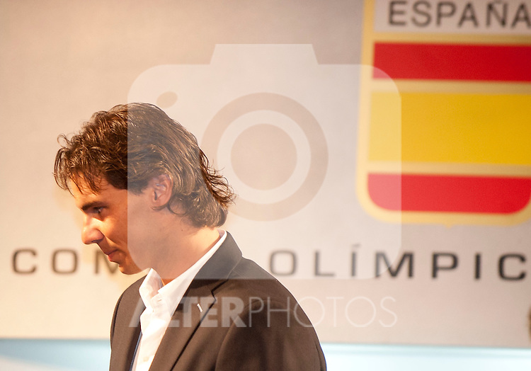 14/07/2012. MAdrid. Spain. COI. International Olimpic Committee. The Spanish COI gave the Spanish Tenis Player Rafael Nadal the spanish flag for the London 2012 Olimpic Games. NAdal Carry the Spanish Flag at the opening ceremony of the Olimpics Games. (c) Bjorn S. Johnson/ Alfaqui