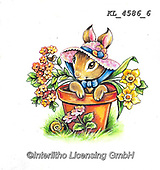 EASTER, OSTERN, PASCUA, paintings+++++,KL4586/6,#e#, EVERYDAY ,rabbit,rabbits ,sticker,stickers,