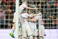 Spain's players celebrate goal during international friendly match. March 27,2018.(ALTERPHOTOS/Acero) /NortePhoto.com NORTEPHOTOMEXICO