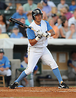 July 7, 2008: Infielder Robert Marcial (11) of the Myrtle Beach Pelicans, Class A affiliate of the Atlanta Braves, in a game against the Wilmington Blue Rocks at BB&T Coastal Field in Myrtle Beach, S.C. Photo by:  Tom Priddy/Four Seam Image