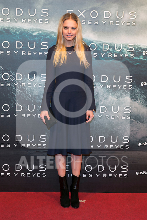 """Laura Hayden attend the Premiere of the movie """"EXODUS: GODS AND KINGS"""" at callao Cinema in Madrid, Spain. December 4, 2014. (ALTERPHOTOS/Carlos Dafonte)"""