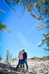 Jessica and Garrett's Echo Summit engagement photography.