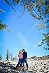 Jessica and Garrett's Echo Summit engagement photography.