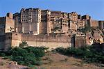 India, Rajasthan, Jodhpur: Fort Mehrangarh | Indien, Rajasthan, Jodhpur: Festungsanlage Meherangarh