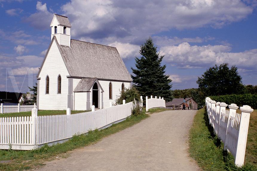 New Brunswick, NB, Canada, St. Mark's Church at King's Landing Historical Settlement