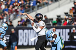 Southern Miss Golden Eagles quarterback Jack Abraham (15) in action during the Armed Forces Bowl game between the Southern Mississippi Golden Eagles vs. Tulane Green Waves at the Amon G. Carter Stadium in Fort Worth, Texas.