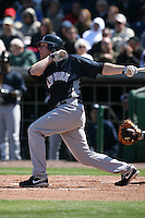 March 4, 2010:  Jamie Hoffmann of the New York Yankees during a Spring Training game at Bright House Field in Clearwater, FL.  Photo By Mike Janes/Four Seam Images