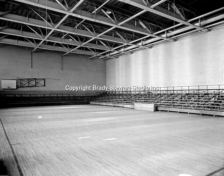 Pittsburgh PA:  View of the Duquesne University Gymnasium.<br /> Brady Stewart was hired to photography the campus, classrooms and offices for a publication to increase enrollment at the Catholic University.