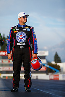 Feb 8, 2017; Pomona, CA, USA; NHRA funny car driver Robert Hight during media day at Auto Club Raceway at Pomona. Mandatory Credit: Mark J. Rebilas-USA TODAY Sports