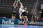 Karl Toom (EST) beim Wurf bei der Euro-Qualifikation im Handball, Deutschland - Estland.<br /> <br /> Foto © PIX-Sportfotos *** Foto ist honorarpflichtig! *** Auf Anfrage in hoeherer Qualitaet/Aufloesung. Belegexemplar erbeten. Veroeffentlichung ausschliesslich fuer journalistisch-publizistische Zwecke. For editorial use only.