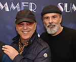 """Tommy Mottola and Bruce Sudano attends the Meet & Greet for """"Summer: The Donna Summer Musical"""" on March 8, 2018 at the New 42nd Street Studios,  in New York City."""