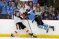 NYS Section 1 D1 Final:  The Suffern Mounties vs the Mamaroneck Tigers boys hockey at the Brewster Ice Arena, Brewster, NY, on Sunday, February 28, 2016.  Mamaroneck defeated Suffern by the score of 5 - 1.